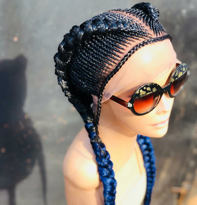 Braided Wig Full Lace Ombre Corn Row Bradied Wig Made
