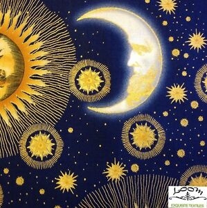 Rpb294d celestial astrology star sign zodiac sun moon for Sun moon fabric