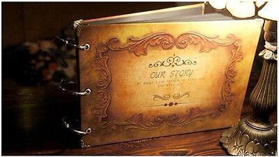Vintage DIY Photo Wedding Scrapbook Album Baby Memory Book Travel Diary Journal