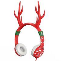 Iclever Volume Limiting Kids Friendly Headphones Christmas Reindeer Ear Headsets