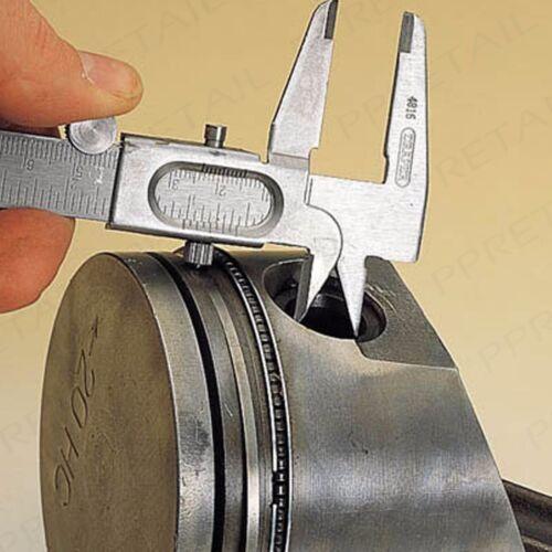 """METAL SLIDING CALIPER GAUGE 115mm//4.5/"""" Metric//Imperial Vernier 3-Way Sizing Tool"""