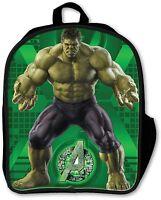 Elementary School Backpack Tote Bag Supplies 3d Marvel Incredible Hulk Boys Book on sale