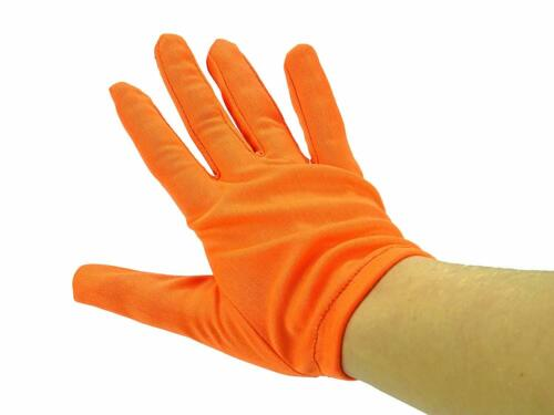 Fancy Dress Accessories Toyland Orange Neon Gloves MI63