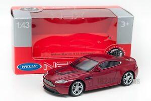 Aston-Martin-V12-VANTAGE-Rojo-Welly-Escala-44035-1-43-Modelo-del-Coche-de-Juguete-Nino-Regalo