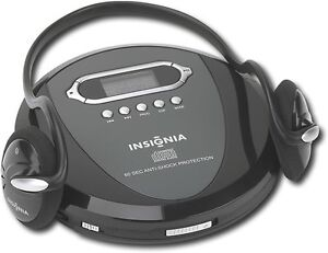 Insignia Portable Cd Player With Skip Protection Cd R Cd Rw With Headphones Ebay