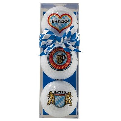"Geschenk: 3 Golfbälle in der Box "" BAYERN "" *NEU*"
