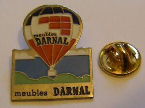 HOT-AIR-BALLOON-MEUBLES-DARNAL-vintage-Pin-Badge