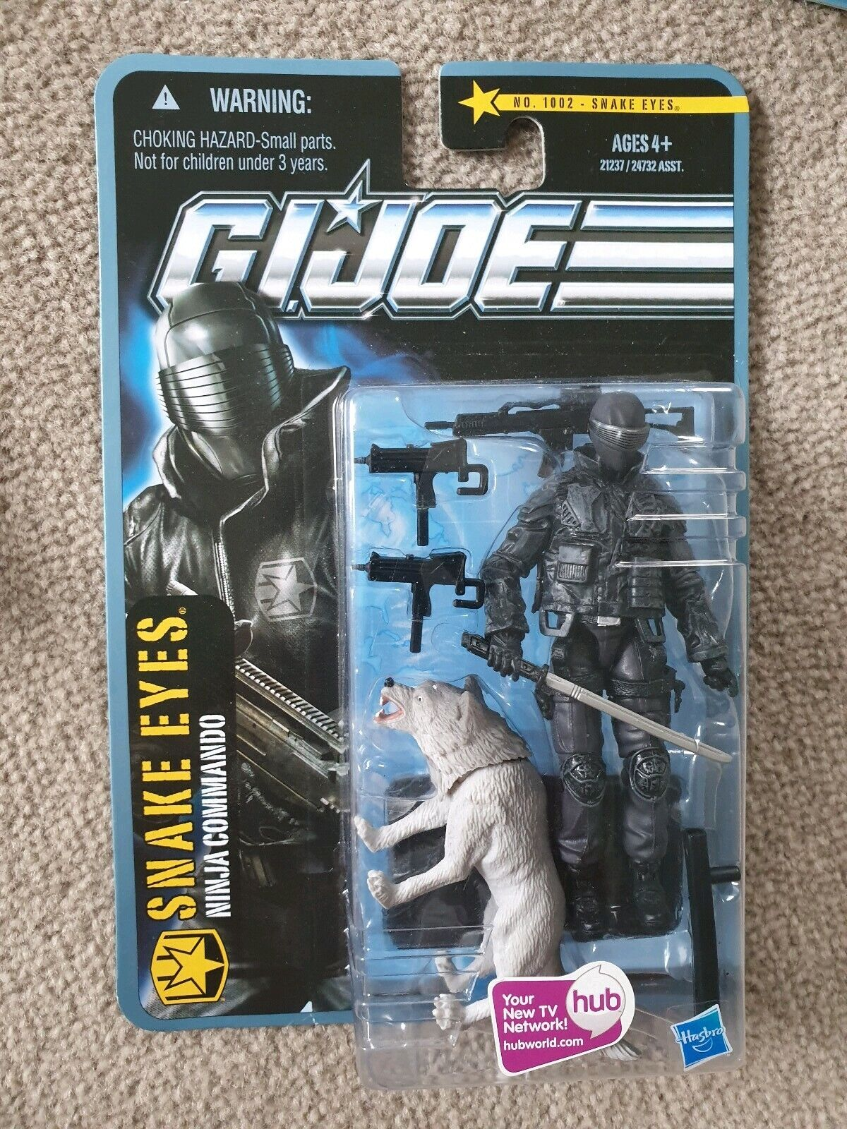 Gi Joe Poc búsqueda de Cobra Snake Eyes Ninja Commando nero Madera