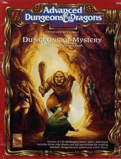 GR2 DUNGEONS OF MYSTERY SEALED NEW D&D Boxed Set TSR Dungeons Dragons Box Module