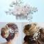 Crystal Rhinestone Pearl Flower Hair Clip Comb Women Bridal Wedding Jewelry