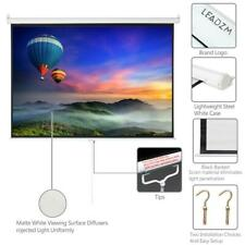 100 43 Projector Screen Pull Down Home Hd 4k 3d Movie Conference Projection