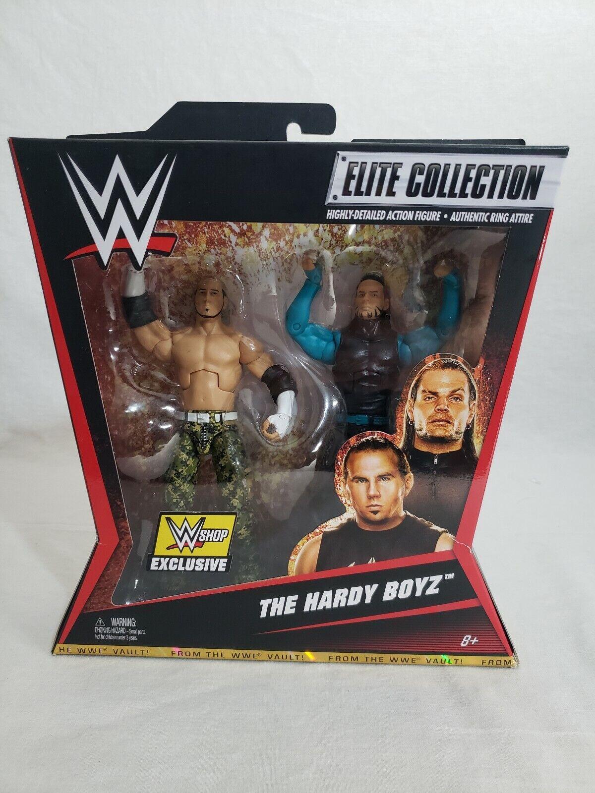 WWE Elite Matt & Jeff the Hardy Boyz Exclusive From the Vault Mattel Figures