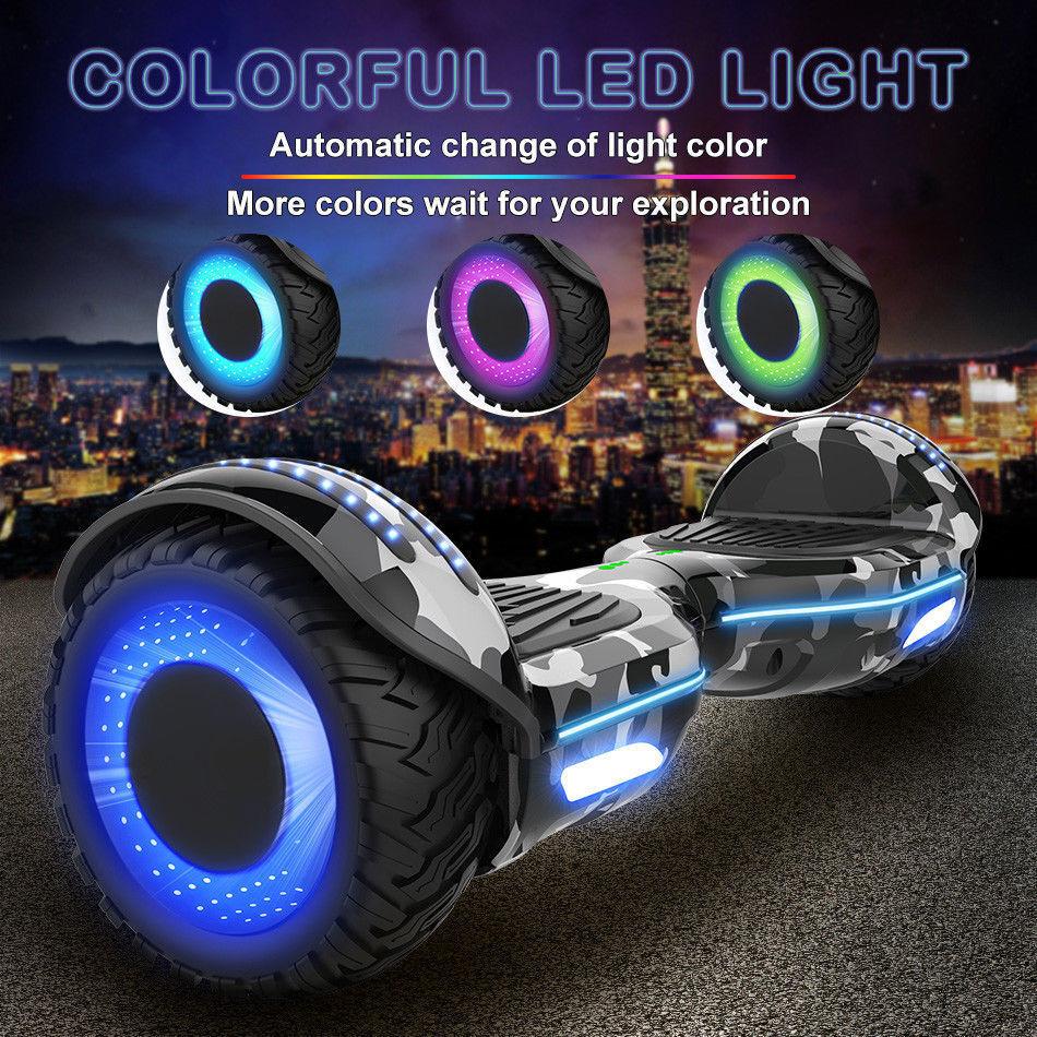 Patinete Eléctrico Hoverboard de 6.5  pulgadas con Motor Brillante y azultooth
