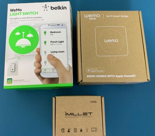 Lot Of 3  Wemo Light Switch  Wemo Bridge Homekit