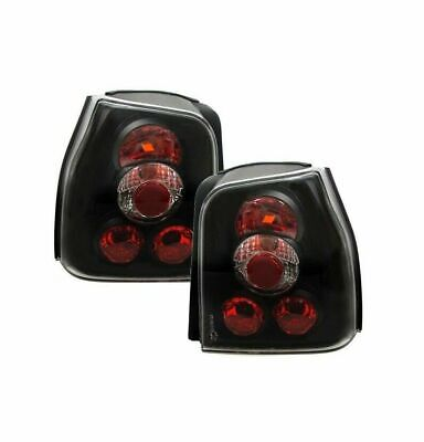 Clear Glass Rear Lights Black for VW Lupo Seat Arosa