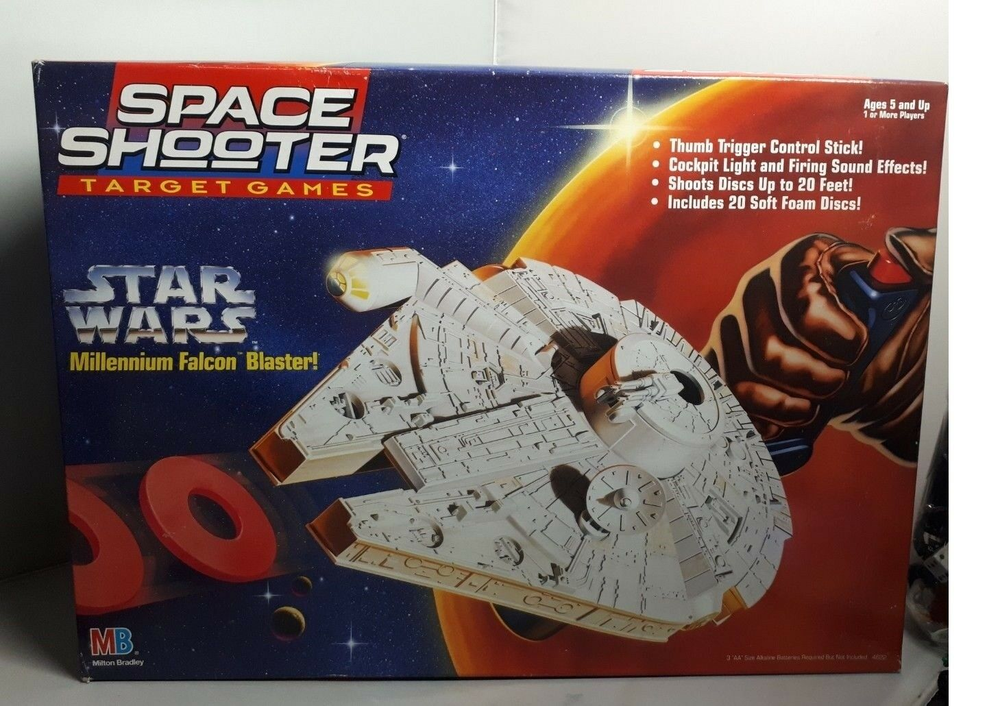 Star Wars Millennium Falcon Blaster Space Shooter Target Games 1996 MB Hasbro