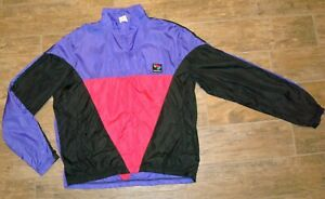 Vintage-Bellwether-Zip-Front-Vented-Cycling-Windbreaker-Jacket-Mens-XL-Excellent