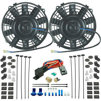 American Volt 180f Electric Fan Thermostat Wiring Install Kit 3//8 Npt Complete Relay Switch