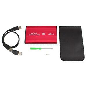 USB-2-0-SATA-2-5-HDD-Hard-Drive-External-Enclosure-Case-Red