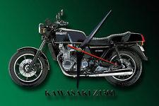 CLASSIC KAWASAKI Z1300 MOTORCYCLE METAL CLOCK