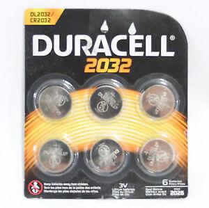 6 Duracell 3v 2032 Lithium Coin Batteries Bbd 03 2024 Ebay