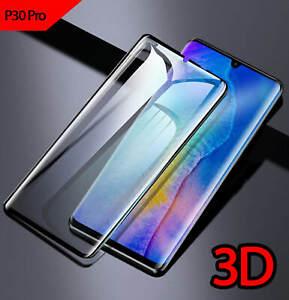 Per-Huawei-P30-PRO-copertura-completa-3D-vetro-temperato-curvo-nero-protezione-schermo