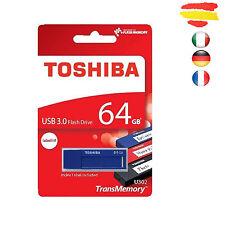 PENDRIVE 64GB TOSHIBA USB 3.0 MEMORIA 2.0 64 GB ORIGINAL PEN DRIVE AZUL