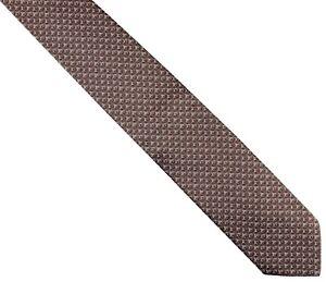 6f7c9cc05e9921 Details about NWT ITALO FERRETTI TIE pure silk brown geometric box luxury handmade  Italy