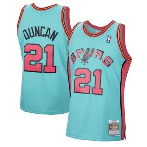 Mitchell /& Ness Swingman Jersey San Antonio Spurs Tim Duncan White