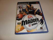 PlayStation 2  PS 2  Madden NFL 2003