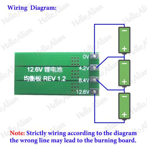 3S 11.1V 12.6V 18650 Lithium Li-ion Battery Packs balanced Module Balance Board