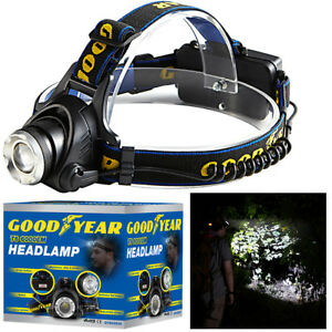 Goodyear-Head-Light-Torch-Lamp-Headlamp-Cree-LED-Rechargeable-Flashlight-6000LM