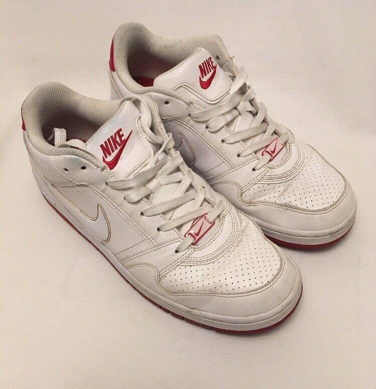 Nike Air hombre retro talla blanco con rojo escotado talla retro 9,5 3deec3
