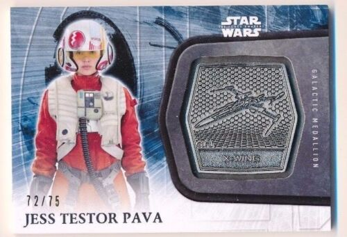 Star Wars The Force Awakens Series 2 Silver Medallion #32 Jess Testor Pava 7275