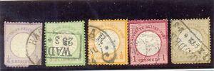 ALEMANIA-IMPERIO-1872-YT-13-16-y-19-USADO
