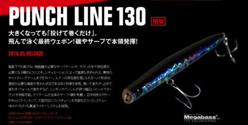 Künstlich Spinning Apia Punch Line 130 Farbe 02 Señuelo Locken Fischen