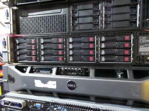 HP DL380P GEN8 SERVER - 2x E5-2690, 32GB  , P420i/1GB , Rails 16x 300GB