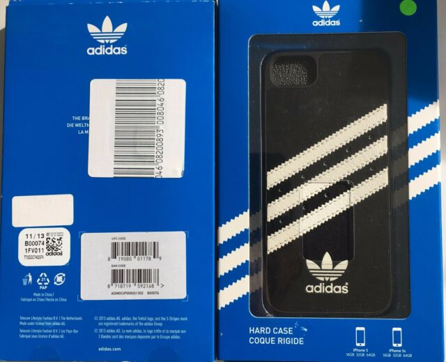 Official adidas MOULDED Hard Shell Case Cover for Apple iPhone 5 5s SE Black