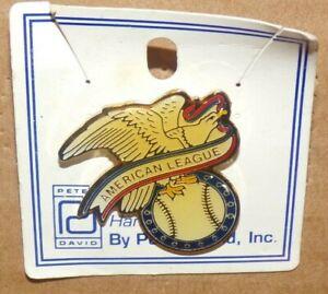 New-Vintage-1985-MLB-Baseball-American-League-Metal-Hat-Lapel-Pin-Pinback