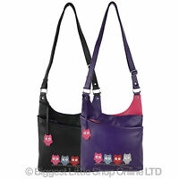 Ladies Leather Cross Body Bag By Mala Kyoto Collection Owls Shoulder Handbag