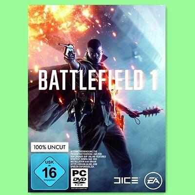 Battlefield 1 Eins Key - EA Origin Download Code PC Spiel BF1 One NEU EU/DE
