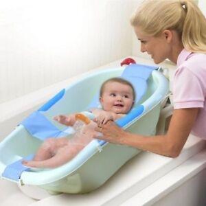 Infant-Newborn-Baby-Bath-Adjustable-Antiskid-For-Bathtub-Seats-Sling-Mesh-Net