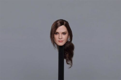 "1:6 Emma Watson Solitary Braid Head Carving Head Figure F 12/""Female Doll"