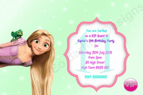 Disney princesse gelé fête d/'anniversaire invitations personnalisé avec enveloppes