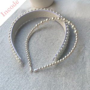 2PCs Women's Pearl Hairband Crystal Crown Hair Accessories Wedding Tiara