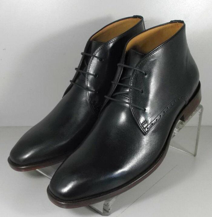 202817 SPBT 50 Chaussures Hommes Taille 9 m Noir Bottes en cuir Johnston & Murphy