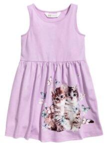 2-4 H/&M PINK DRESS CAT KITTEN KITTY BUNNY RABBIT FAST POST