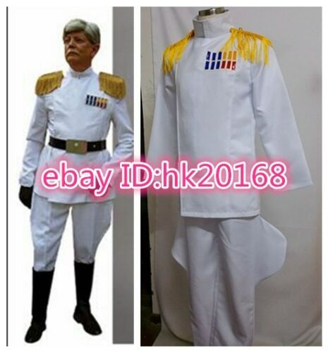 Star Wars Imperial Officer Grand Admiral Thrawn Cosplay Costume White Uniform064