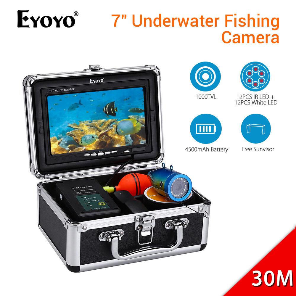 Eyoyo 7  pulgadas Pesca Submarina Cámara HD 1000TVL 4500mAh Batería Buscador de los pescados