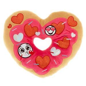 Details about Emoji Love Donut Heart Pillow Emoticon Plush Doughnut Soft  Holographic Details